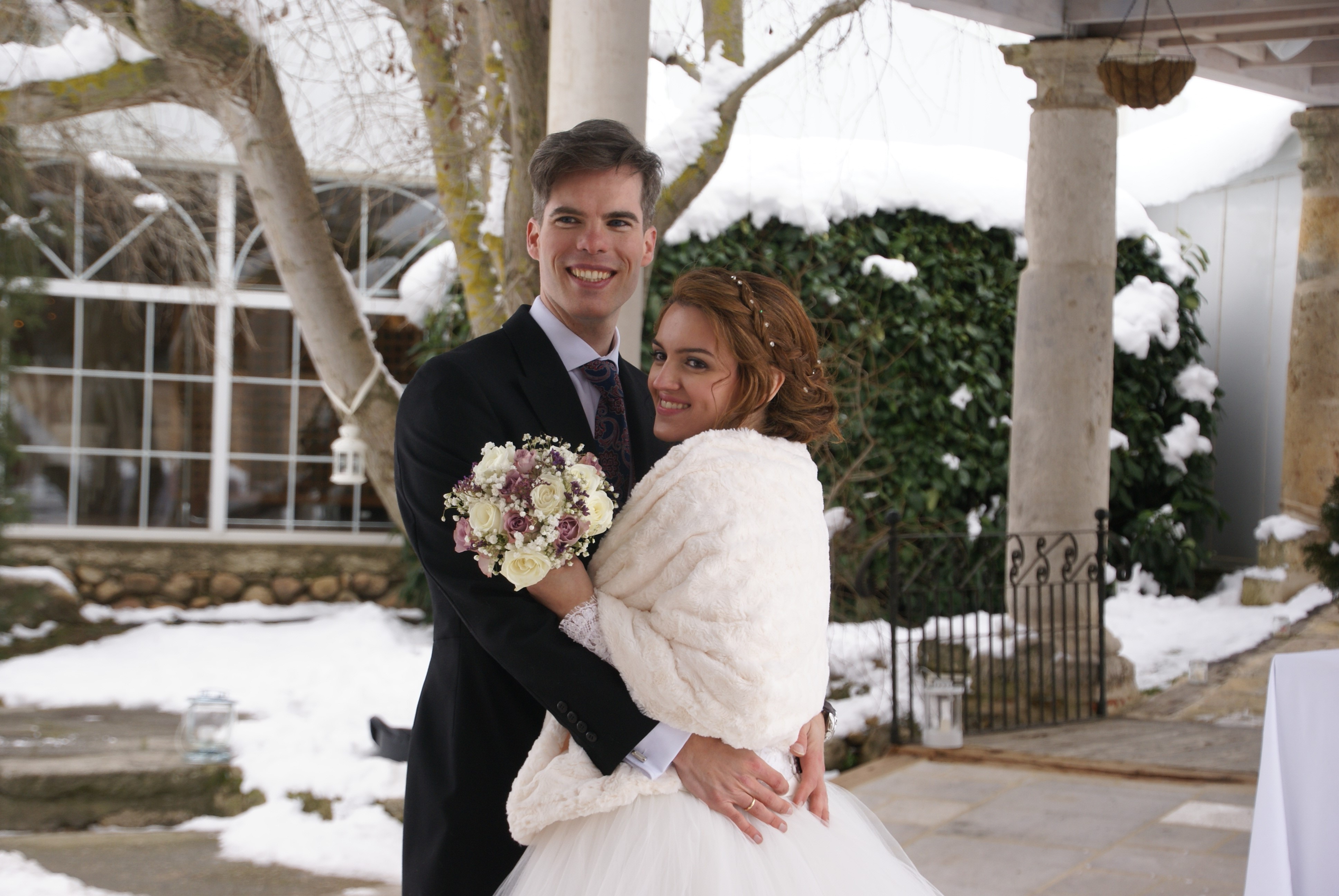 Vestido novia invierno